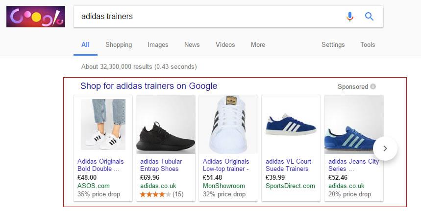 Google shopping advertising Telford